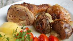 Kuracie stehná plnené kuracou pečeňou