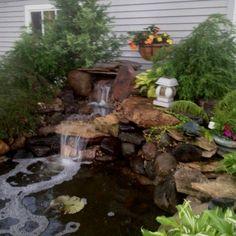 Tonight's waterfall rebuild....via Put's Ponds & Gardens