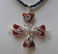 Cross collection ... Red Agate Silver Wire by jjdesigns0489, $65.00 - interesting