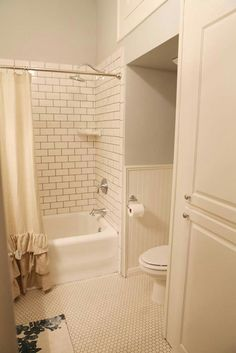 HGTV Fixer Upper West Texas House White Subway Tiles With Dark Grout