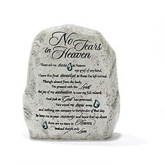 Garden Rock Figurine  No Tears in Heaven *** You can find out more details at the link of the image.(This is an Amazon affiliate link)