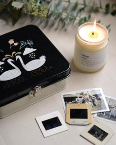 This cozy candle from the perfect accompaniment for taking a stroll down memory lane with our Wild Tale keepsake box. Keepsake Boxes, Take That, Cozy, Candles, Memories, Studio, Instagram, Memoirs, Candy