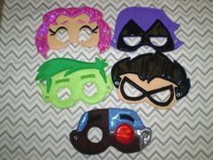 Teen Titans Go Inspired Felt Masks..Superheros... by Fancythattwo