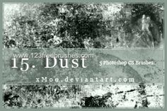 Dust - Download  Photoshop brush http://www.123freebrushes.com/dust/ , Published in #GrungeSplatter. More Free Grunge & Splatter Brushes, http://www.123freebrushes.com/free-brushes/grunge-splatter/ | #123freebrushes