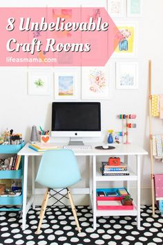 Home office, crafty corner, she space, whatever you choose to call it, crafting rooms are a great way for busy moms to escape the noise of their everyday lives and create something amazing. These rooms are going to have you drooling for one of your own!