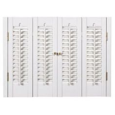 HOMEbasics Traditional Faux Wood White Interior Shutter (Price Varies By  Size) QSTA3528 At The Home Depot