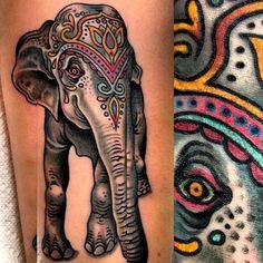 I ❤️ tribal elephant tattoos