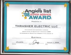Angies List 2008; Electrical