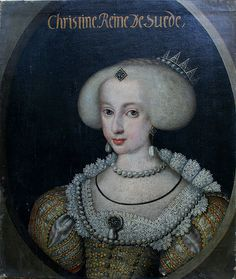Queen Christine of Sweden (1626-1689) Date 1640 or 1642 by Unknown Royal Court Painter