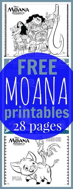 FREE Moana Coloring Sheets + Kids Activities #Moana