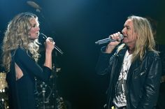 Jennifer Nettles and Cheap Trick's Robin Zander perform during CMT Crossroads: Cheap Trick and Jennifer Nettles on March 8, 2016 in Nashville, Tennessee.