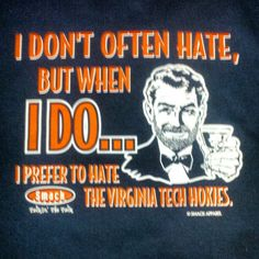 Great #UVa shirt....can't stand the Chokies!
