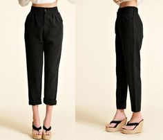 Narrow Ankle Women's Linen Pants with Elastic Waist / by Ramies