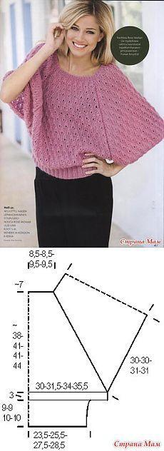 El concepto es simple: prelesny dzhemperok - Tejidos de punto de moda + para NEMODELNYH DAMAS - casa las mamás