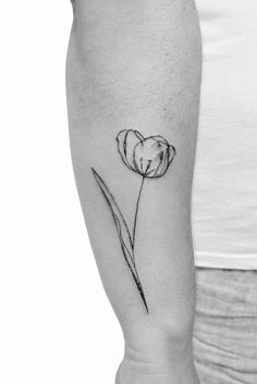 3f0c8a465 What does tulip tattoo mean? We have tulip tattoo ideas, designs, symbolism  and we explain the meaning behind the tattoo.