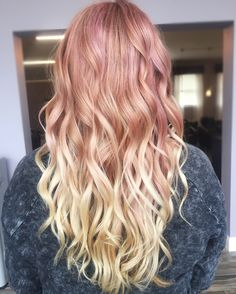 Rose gold to blonde ombré! More