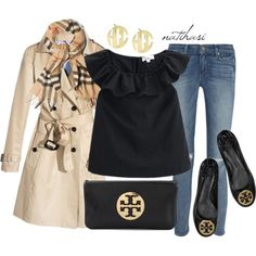 """""""Preppy Fall Outfit"""" by natihasi on Polyvore"""
