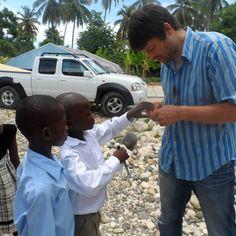 Misha Collins in Haiti with Random Acts building a children center