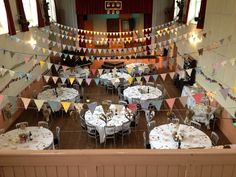 Grasmere village hall wedding. Bunting and vintage furniture galore!