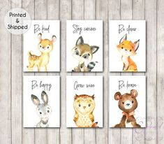 Woodland Animal Quotes Nursery Prints Set of Gender Neutral Nursery Wall Art, Woodland Theme Nursery, Forest Animals Kids Room Decor Nursery Wall Art, Girl Nursery, Nursery Sets, Fox Nursery, Nursery Quotes, Nursery Decor Boy, Baby Nursery Themes, Bedroom Decor, Personalised Prints