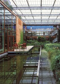 The Alterra Institute in the Netherlands (pictured) is just one example of the innovative architectural designs of Behnisch Architekten, Stuttgart, and Transsolar ClimateEngineering