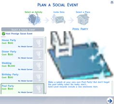 The Sims 4 Mod: Pool Party Social Event POOL PARTIES ARE HERE! I bring to you a mod that adds a brand new Social Event type to the game. We have pools, so why not pool parties? Pool Party is cloned. Sims 4 Cas Mods, Los Sims 4 Mods, Die Sims 4 Packs, Sims 4 Cheats, Sims 4 Traits, The Sims 4 Cabelos, Sims 4 Blog, Sims 4 Children, Sims 4 Gameplay
