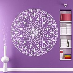 Wall Decals Mandala Indian Pattern Yoga Oum Om Sign Decal Vinyl Sticker Home Decor Art Murals Bedroom Studio Window MM10