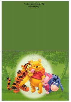 il mio angolo creativo: Cartoline Winnie the Pooh