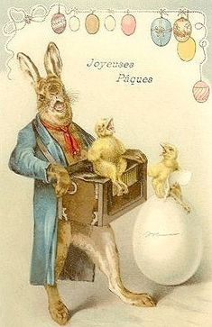 Easter Art, Easter Bunny, Easter Ideas, Vintage Cards, Vintage Postcards, Vintage Ephemera, Easter Festival, Easter Pictures, Easter Parade