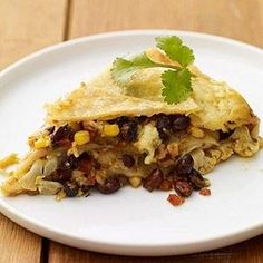 Slow Cooker Vegetarian Mexican Lasagna #myplate #slowcooker #fall #recipes by corina