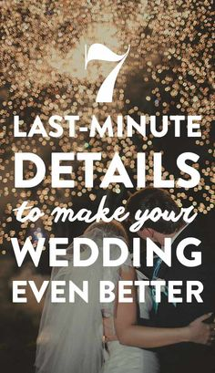 These last-minute details are easy to pull off and won't break the bank. So, let's dive into last-minute details that will make your wedding even better.
