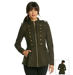 BCBG® Short Military Jacket With Skirted Bottom at www.bonton.com