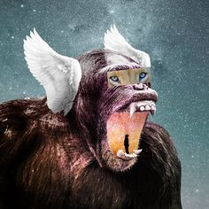 """26 Likes, 3 Comments - Febrian Prambudi (@feb.prambudi) on Instagram: """"screamin' entire space in another space . . . . #monkey #galaxy #wings #thor #tooth #teeth #mouth…"""""""