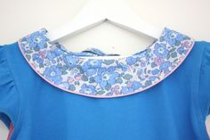 Blouse jersey et col liberty By Little Chouette