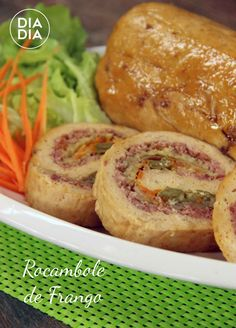 Rocambole de Frango Pasta, Baked Potato, Quiche, Mousse, Food And Drink, Appetizers, Cooking Recipes, Yummy Food, Dishes