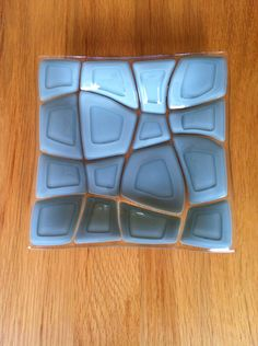 Dilution dish made using opaque grey-green on clear base
