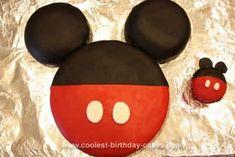 Homemade Mickey Mouse Birthday Cake Design