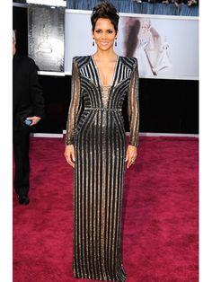 Halle Berry in Versace gown
