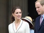 4th July, 2011: The Duke and Duchess of Cambridge on the fifth day of their tour of Canada. Prince William and Catherine were at Province House on Prince Edward Island where they met fathers of the confederation and did a walkabout.