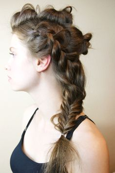 Coachella braid hair