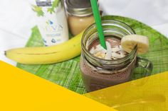 The perfect party of chocolate, bananas, nut butter, maple water, and almond milk. This Chunky Monkey Maple Smoothie is a vegan's sweet dream! Chunky Monkey Smoothie, Healthy Juices, Water Recipes, Nut Butter, Perfect Party, Almond Milk, Bananas, Vegan, Chocolate