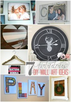 7 Fabulous DIY Wall Art Ideas | TheTurquoiseHome.com