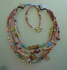 Baule Treasure African beads, metal beads, spacers; flat beads