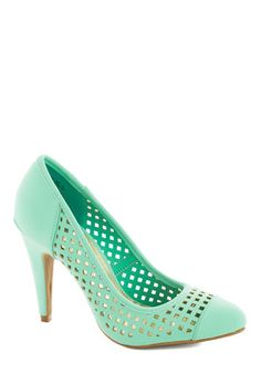 I Screen, You Screen Heel, #ModCloth- Shoes? Would be cute with pink and they aren't expensive.