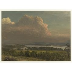 Frederic Edwin CHURCH (American painter, 1826-1900): Sunset across the Hudson Valley, June 1870