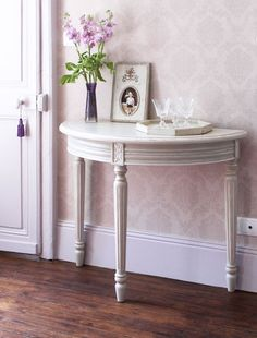 Superieur Nordic Grey Half Moon Console Table (259)