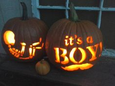 October baby gender reveal pumpkins
