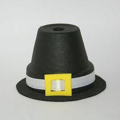 pilgrim craft | Clay Pot Pilgrim Hat Craft