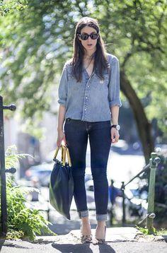 Saint Laurent jeans, Celine bag, Louboutin shoes