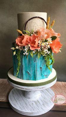 A beautiful boho chic baby shower cake!!